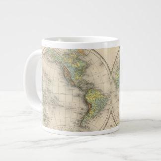World hypsometric maps giant coffee mug