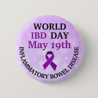 World IBD Day Awareness Ribbon Button