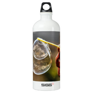 World in a Bubble Aluminum Water Bottle