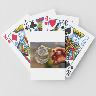 World in a Bubble Bicycle Playing Cards
