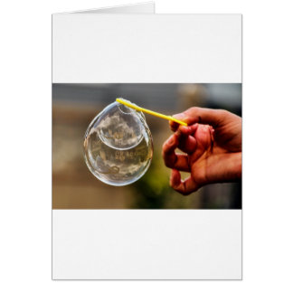 World in a Bubble Card