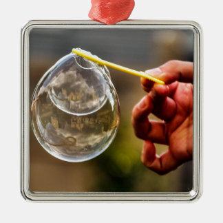 World in a Bubble Metal Ornament