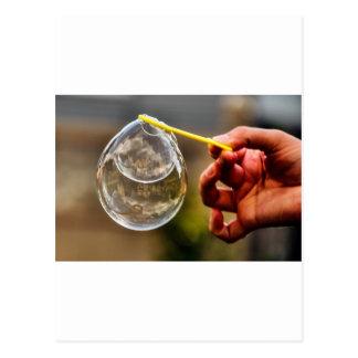 World in a Bubble Postcard