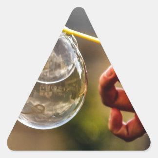 World in a Bubble Triangle Sticker