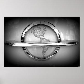 World in Chrome Poster