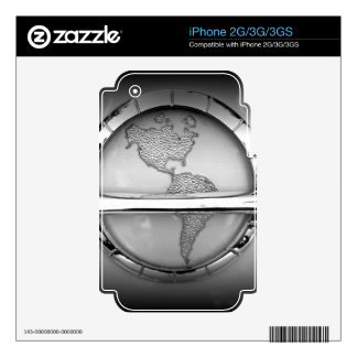 World in Chrome Decal For iPhone 2G