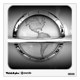 World in Chrome Wall Sticker