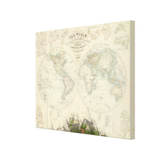World in Hemispheres Gallery Wrap Canvas