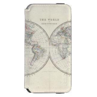 World in hemispheres iPhone 6/6s wallet case