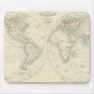 World in Hemispheres Mouse Pad