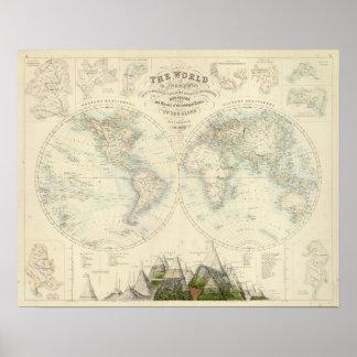 World in Hemispheres Print