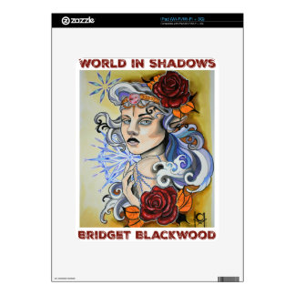 World in Shadows logo by Chelsea Holloway iPad Skin