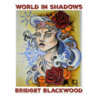 World in Shadows logo by Chelsea Holloway Postcard