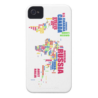 World in words iPhone 4 case