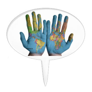 World In Your Hands Cake Topper