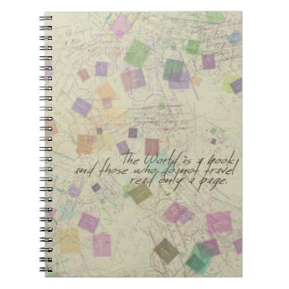 World is a book Notebook
