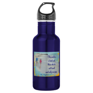 World is a Book 18oz Water Bottle