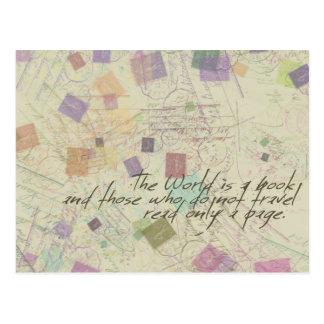World is a book Postcard
