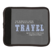 World is A Book -Travel Blue- Augustine of Hippo Handle Wrap