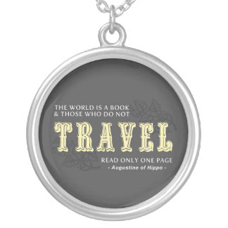 World is A Book -Travel Yellow- Augustine of Hippo Pendants