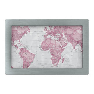 World is Art - Pink Rectangular Belt Buckle
