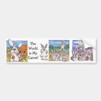 World Is My Carrot Car Bumper Sticker