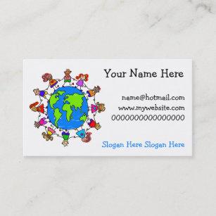 world kids business card - Kids Business Cards