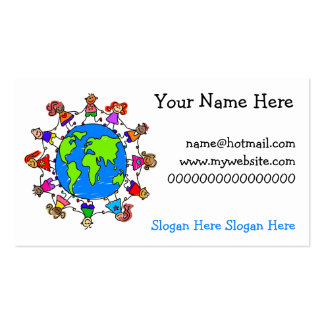World Kids Double-Sided Standard Business Cards (Pack Of 100)