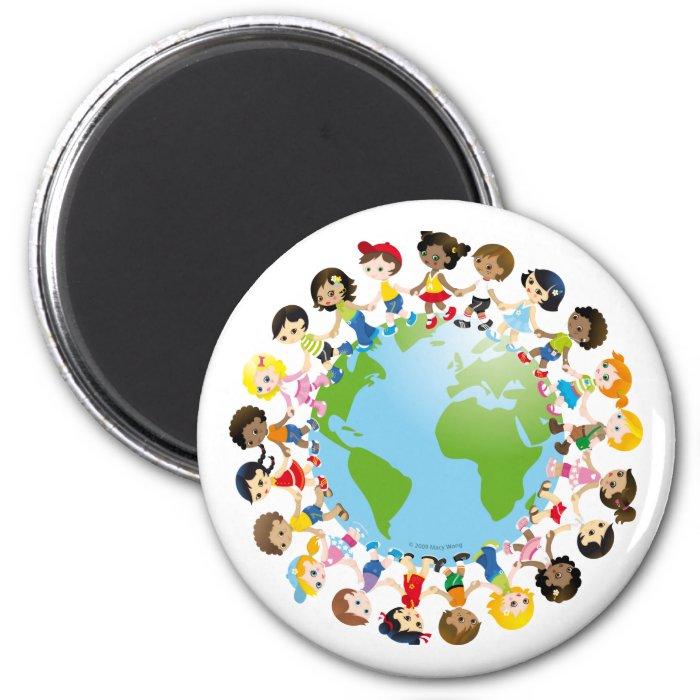 World kidz 2 inch round magnet
