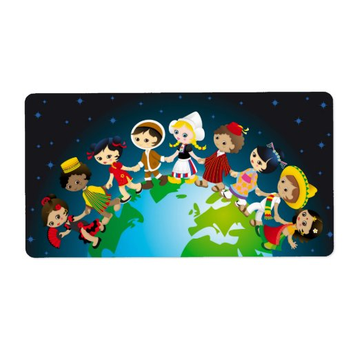 World kidz personalized shipping labels