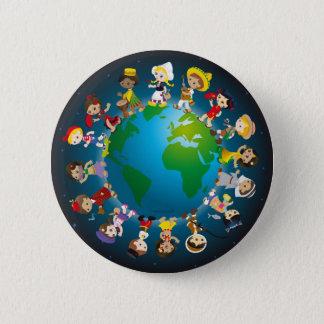World kidz pinback button