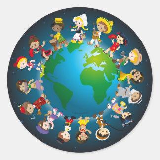 World kidz round sticker