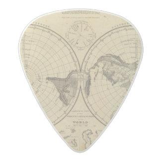 World land surface acetal guitar pick