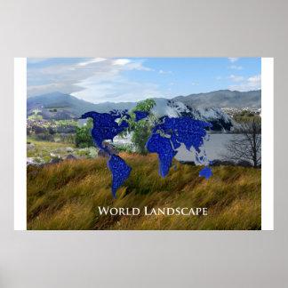 World Landscape Poster