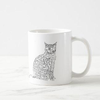 World Languages Cat Mug