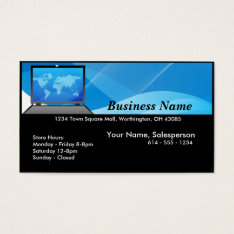 World Laptop/computer Business Card at Zazzle
