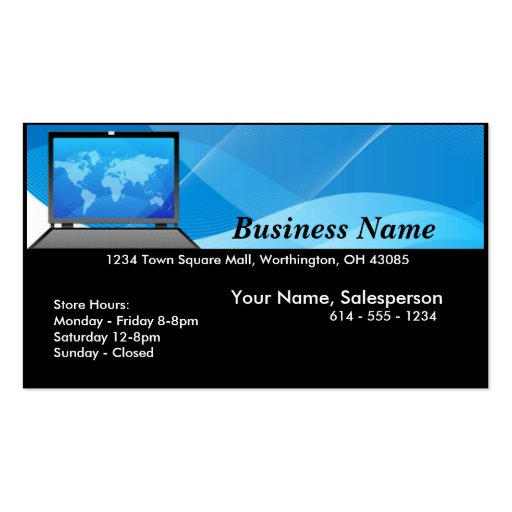 World Laptop/Computer Business Card