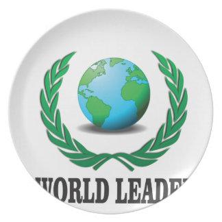 world leader dinner plate