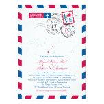 World Locations Airmail | Wedding 5x7 Paper Invitation Card