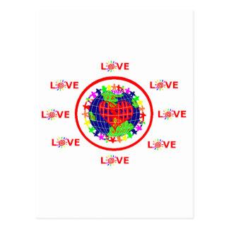 world love postcard