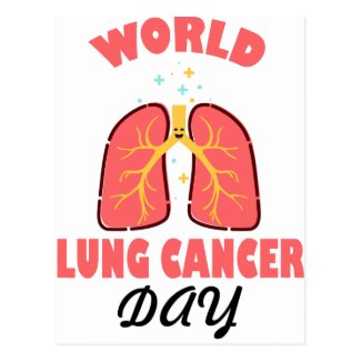 World Lung Cancer Day Postcard