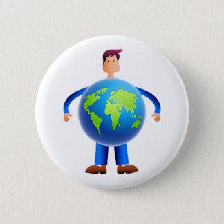 World Man Button