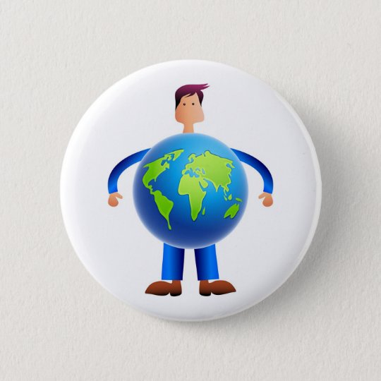 World Man Button