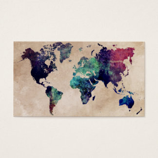 world map 10 business card