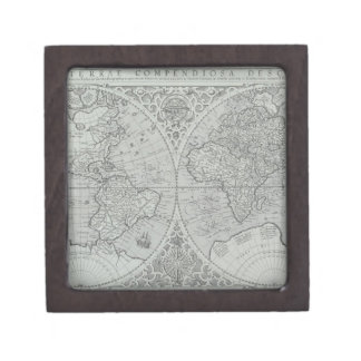 World Map 10 Keepsake Box