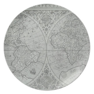 World Map 10 Party Plate