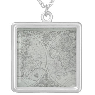 World Map 10 Silver Plated Necklace