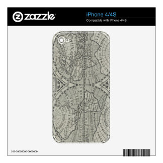 World Map 11 Decal For iPhone 4