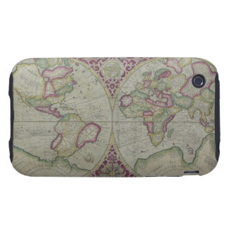 World Map 12 Tough iPhone 3 Case