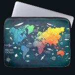 """world map 12 computer sleeve<br><div class=""""desc"""">world map</div>"""